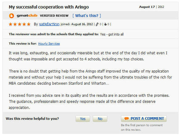 My successful cooperation with Aringo