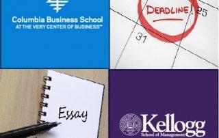 Columbia-Kellogg Deadlines-Essays